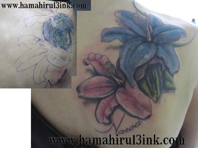 Tatuaje flores cover up