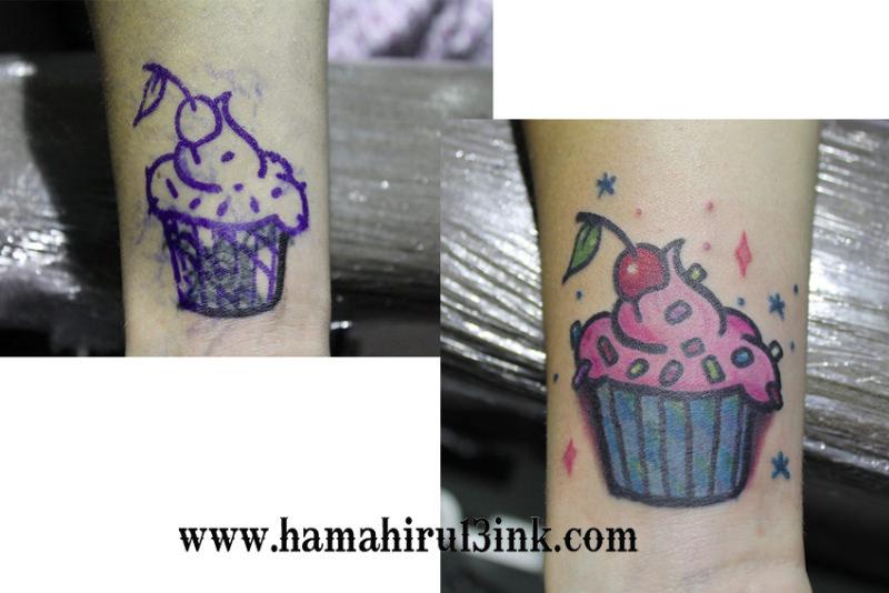 Tatuaje pastel cover up de colores