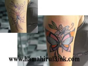 Tatuaje cover up mariposa