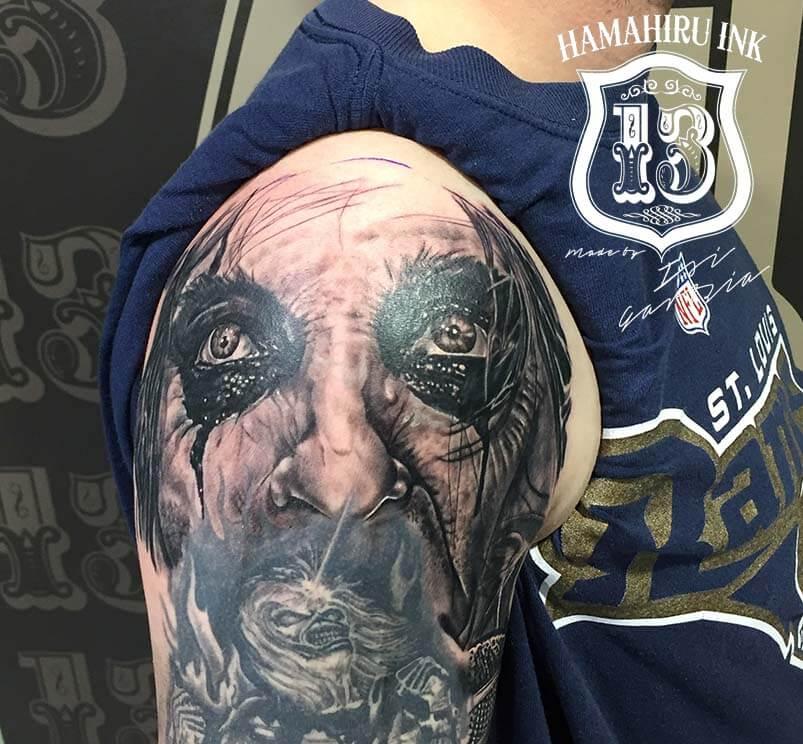 Alice Cooper Eyes Tattoo Hamahiru 13 Ink Tattoo & Piercing