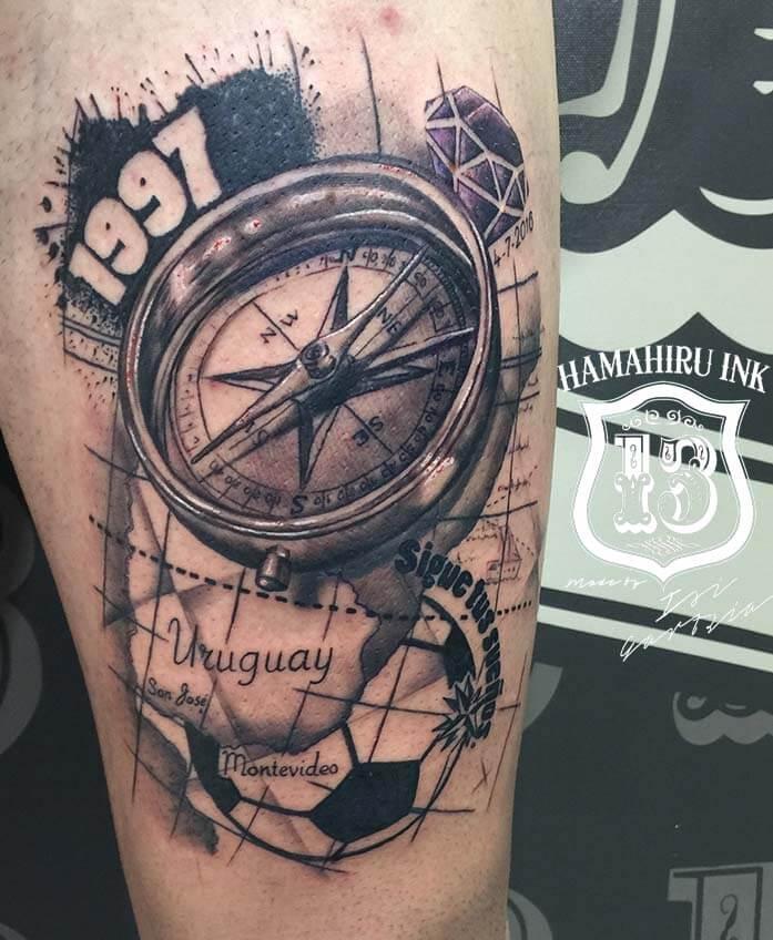 Brujula Tattoo Hamahiru 13 Ink Tattoo & Piercing