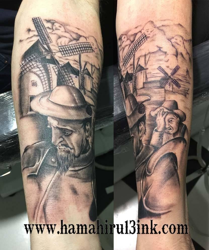 Tatuaje Don Quijote Hamahiru 13 Ink Tattoo & Piercing