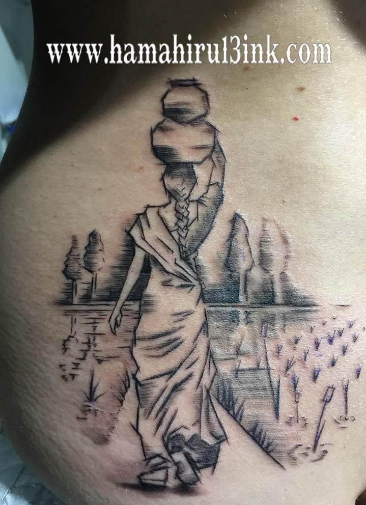 Tatuaje boceto Hamahiru 13 Ink Tattoo & Piercing