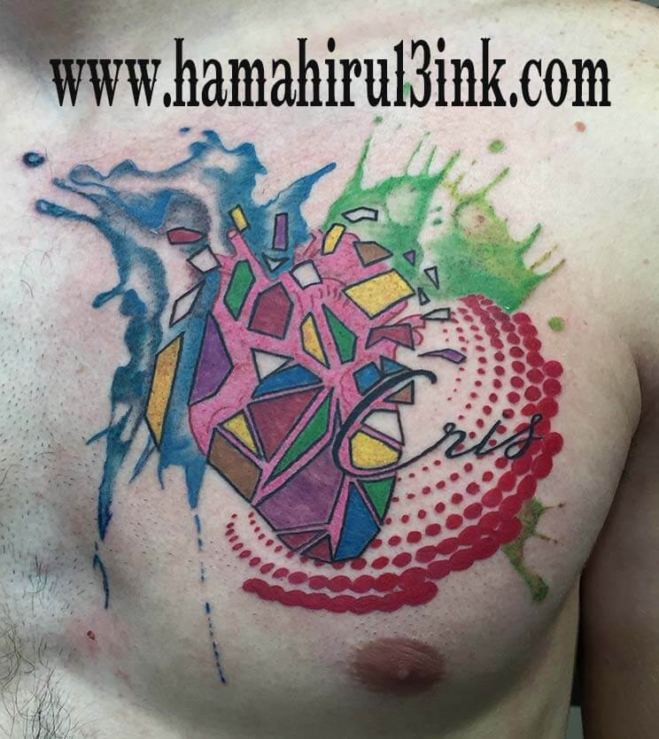 Tatuaje corazon Hamahiru 13 Ink Tattoo & Piercing