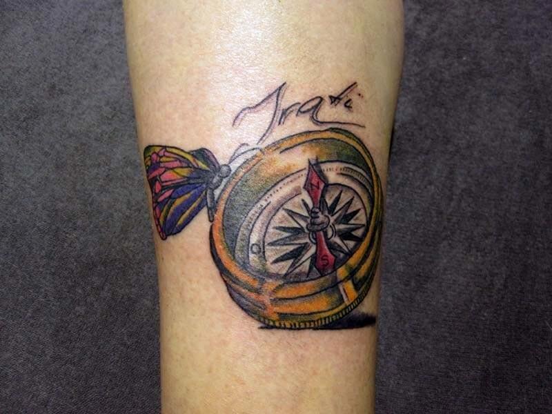 Tattoo Mujer Brujula Hamahiru 13 Ink Tattoo & Piercing