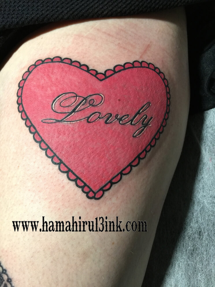 Tatuaje corazón Hamahiru 13 Ink Tattoo & Piercing