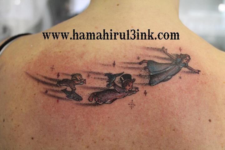 Tatuaje Peter Pan Hamahiru 13 Ink Tattoo & Piercing