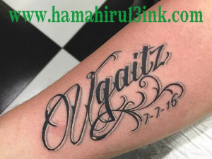 Lettering tattoo Hamahiru 13 Ink Tattoo & Piercing