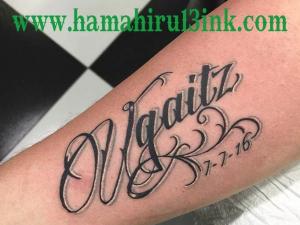 Lettering tattoo Hamahiru 13 Ink Tattoo & Piercing