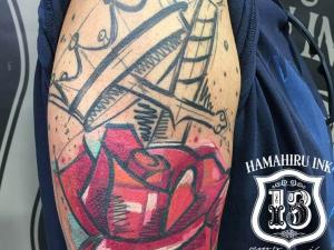 Rosa boceto Hamahiru 13 Ink Tattoo & Piercing