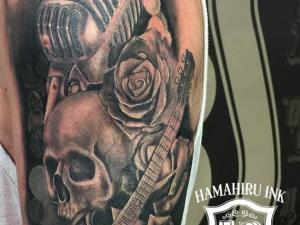 Skull Tattoo Hamahiru 13 Ink Tattoo & Piercing