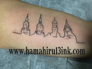 Tatuaje Las Cuatro Torres Hamahiru 13 Ink Tattoo & Piercing