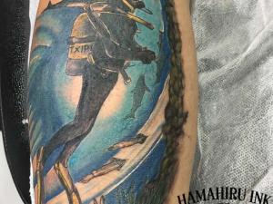 Tatuaje buceador Hamahiru 13 Ink Tattoo & Piercing