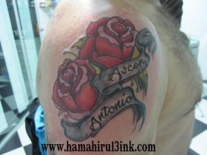Tatuajes Vitoria Flores color Hamahiru 13 Ink Tattoo & Piercing