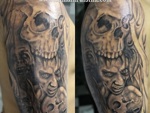 Tatuaje calaveras Walking Dead Hamahiru 13 Ink Tattoo & Piercing
