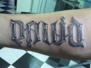 Ambigrama David