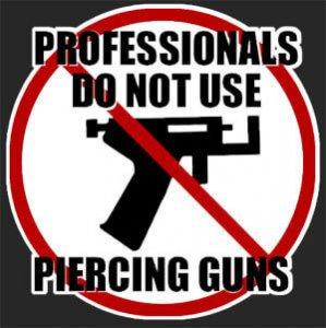 Los profesionales no usan pistolas perforadoras.