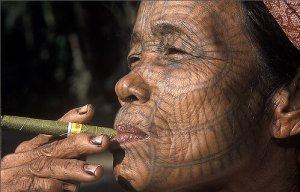 Mujer de Myanmar.