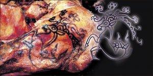 Tatuaje de Capricornio de la momia de Ukok.